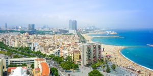 stranden barcelona